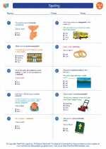 English Language Arts - Eighth Grade - Worksheet: Spelling