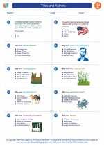 English Language Arts - Eighth Grade - Worksheet: Titles and Authors