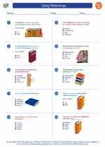 English Language Arts - Eighth Grade - Worksheet: Using References