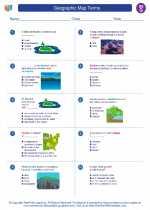 Social Studies - Seventh Grade - Worksheet: Geographic Map Terms