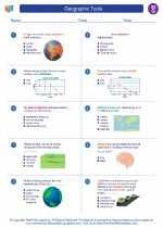 Social Studies - Seventh Grade - Worksheet: Geographic Tools
