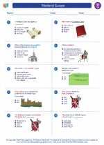 Social Studies - Seventh Grade - Worksheet: Medieval Europe