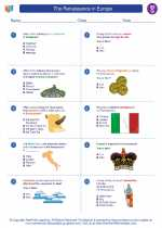 Social Studies - Seventh Grade - Worksheet: The Renaissance in Europe