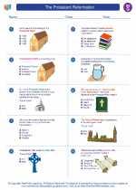 Social Studies - Seventh Grade - Worksheet: The Protestant Reformation