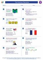 Social Studies - Seventh Grade - Worksheet: The American Revolution