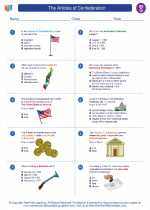 Social Studies - Seventh Grade - Worksheet: The Articles of Confederation