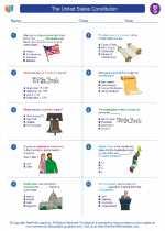 Social Studies - Seventh Grade - Worksheet: The United States Constitution