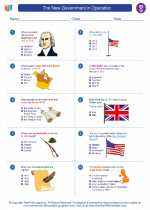 Social Studies - Seventh Grade - Worksheet: The New Government in Operation