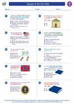 Social Studies - Seventh Grade - Worksheet: Causes of the Civil War