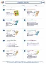 Mathematics - Fifth Grade - Worksheet: Ordering Decimals