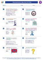 Social Studies - Eighth Grade - Worksheet: Reconstruction after the Civil War