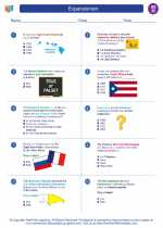 Social Studies - Eighth Grade - Worksheet: Expansionism