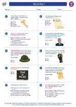 Social Studies - Eighth Grade - Worksheet: World War I