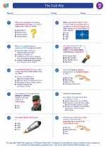 Social Studies - Eighth Grade - Worksheet: The Cold War