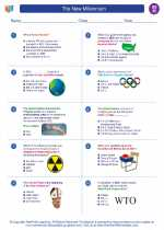Social Studies - Eighth Grade - Worksheet: The New Millennium