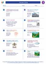 Social Studies - Eighth Grade - Worksheet: Ancient China