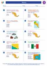 Social Studies - Eighth Grade - Worksheet: Mexico