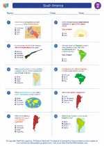 Social Studies - Eighth Grade - Worksheet: South America