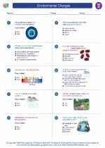 Social Studies - Eighth Grade - Worksheet: Environmental Changes