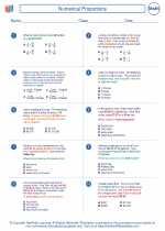 Mathematics - Seventh Grade - Worksheet: Numerical Proportions