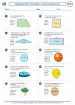 Mathematics - Seventh Grade - Worksheet: Measurement, Perimeter, and Circumference