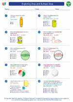 Mathematics - Seventh Grade - Worksheet: Exploring Area and Surface Area