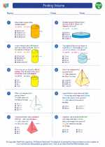 Mathematics - Seventh Grade - Worksheet: Finding Volume