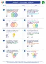 Mathematics - Seventh Grade - Worksheet: Nonlinear Functions and Set Theory