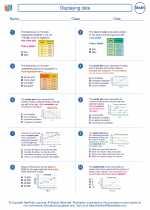 Mathematics - Eighth Grade - Worksheet: Displaying data