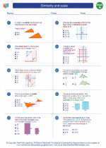 Mathematics - Eighth Grade - Worksheet: Similarity and scale