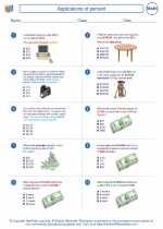 Mathematics - Eighth Grade - Worksheet: Applications of percent