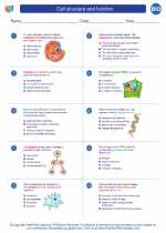 Biology - High School - Worksheet: Cell structure and function