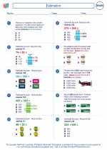 Mathematics - Third Grade - Worksheet: Estimation