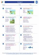 Ecology II. High School Biology Worksheets and Answer Keys ...