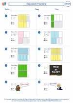 Mathematics - Fifth Grade - Worksheet: Equivalent Fractions