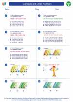 Mathematics - Fifth Grade - Worksheet: Compare and Order Numbers