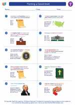 Social Studies - Fifth Grade - Worksheet: Forming a Government