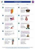 Social Studies - Fifth Grade - Worksheet: Notable People