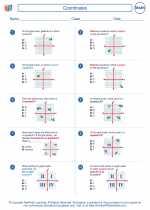 Mathematics - Sixth Grade - Worksheet: Coordinates