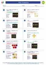 ESL-Spanish - Grades 3-5 - Worksheet: Math Vocabulary