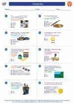 English Language Arts - Sixth Grade - Worksheet: Vocabulary