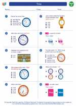 Mathematics - Third Grade - Worksheet: Time