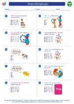 Mathematics - Fourth Grade - Worksheet: Division/Multiplication