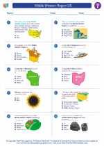 Social Studies - Fifth Grade - Worksheet: Middle Western Region US