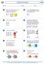 Mathematics - Third Grade - Worksheet: Odd/Even Numbers