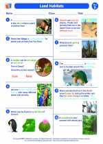 Science - Second Grade - Worksheet: Land Habitats