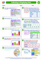 Mathematics - Fifth Grade - Worksheet: Collecting and Displaying Data