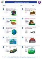 Social Studies - Fifth Grade - Worksheet: Industrialization/Economics