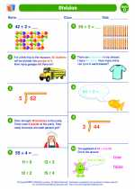 Mathematics - Fourth Grade - Worksheet: Division