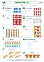 Mathematics - Third Grade - Worksheet: Multiplication Facts